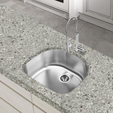 Stahl Stainless Half-Moon Bowl Kitchen Sink