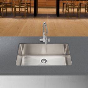 Stahl Handmade - Large Single Bowl Kitchen Sink