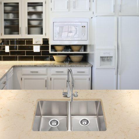Stahl Handmade - Large Equal Double Bowl Kitchen Sink