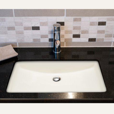 Stahl Ceramic Large Undermount Rectangular Bowl - Bisque