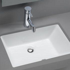 Stahl Ceramic Medium Undermount Rectangular Bowl Bath Sink White
