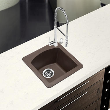 Blanco Diamond Equal Double Bowl Kitchen Sink - Café Brown
