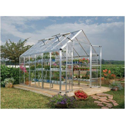 Palram 8' x 12' Snap & Grow Greenhouse - Starter Kit Bundle