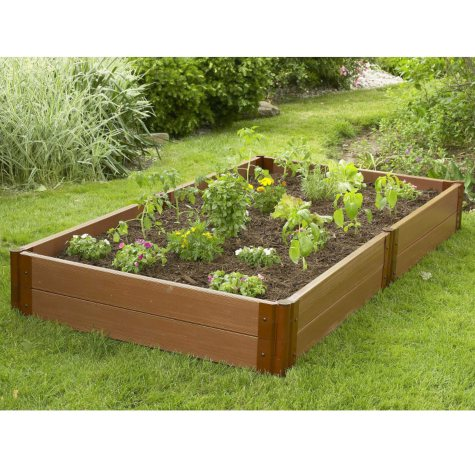 "Raised Vegetable Garden - 4'W × 8'L × 12""H"
