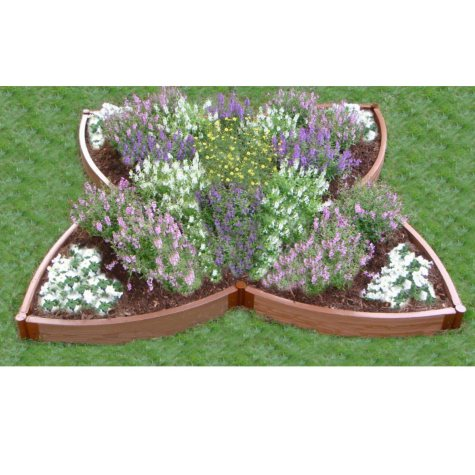 Four Leaf Clover Flower Bed