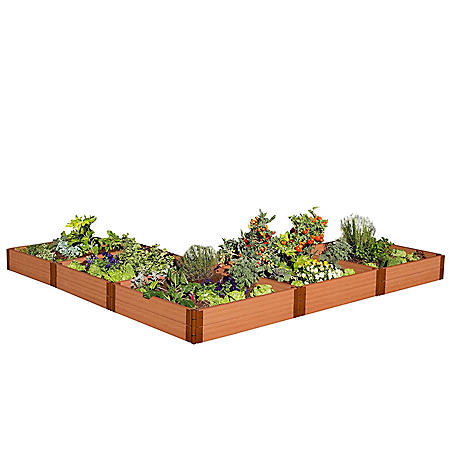 "Classic Sienna Raised Garden Bed 'L' Shaped 12' x 12' x 11"" - 1"" Profile"
