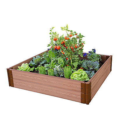 "Classic Sienna Raised Garden Bed 4' x 4' x 11"" - 1"" Profile"