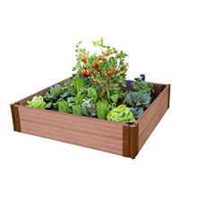 "Frame It All's Raised Garden - 1"" 4' x 4', 2 Level"