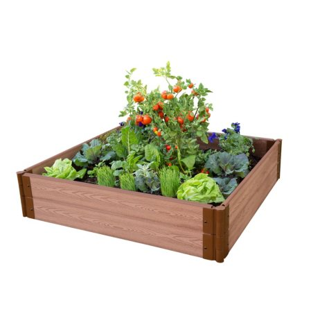 "Classic Sienna Raised Garden Bed 4' x 4' x 11"" - 1"" Profile"