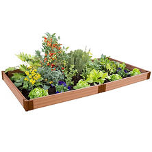 "Frame It All's Raised Garden 1"" 4' x 8', 1-Level"
