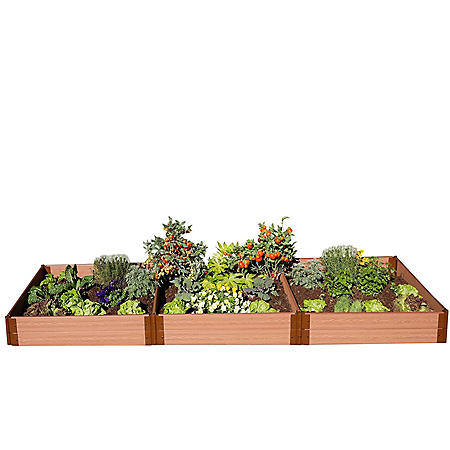 "Classic Sienna Raised Garden Bed 4' x 12' x 11"" - 1"" Profile"