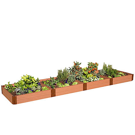 "Classic Sienna Raised Garden Bed 4' x 16' x 11"" - 1"" Profile"