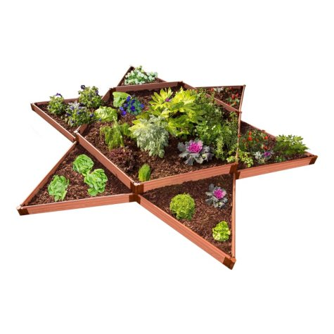 "Classic Sienna Raised Garden Bed Garden Star 12' x 12' x 11"" - 1"" Profile"