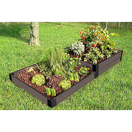 """Weathered Wood Raised Garden Bed Terraced - 4' x 8' x 11"""""""