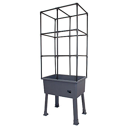 """Patio Ideas Self-Watering Elevated Planter with Trellis Frame and Greenhouse Cover - 15.75"""" x 31.5"""" x 63"""""""