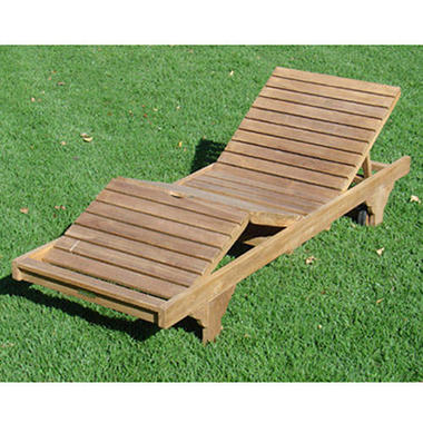 Teak Wood Chaise Lounge