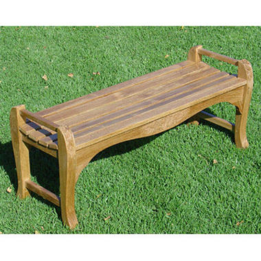 Charming Teak Wood Backless Bench