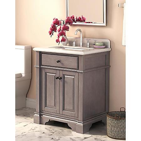 Marble Top 28-inch Vanity