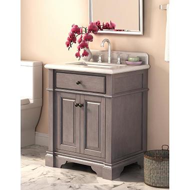 Marble Top 28 Inch Vanity