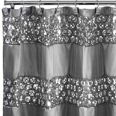 Sinatra Silver Sequins Design Shower Curtain - Sam\'s Club