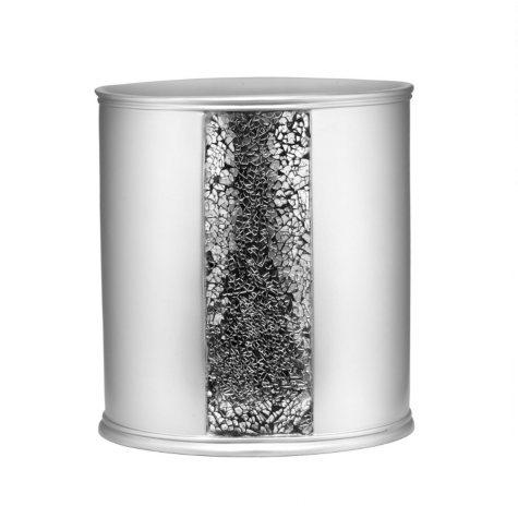 Sinatra Silver Sequins Design Waste Basket