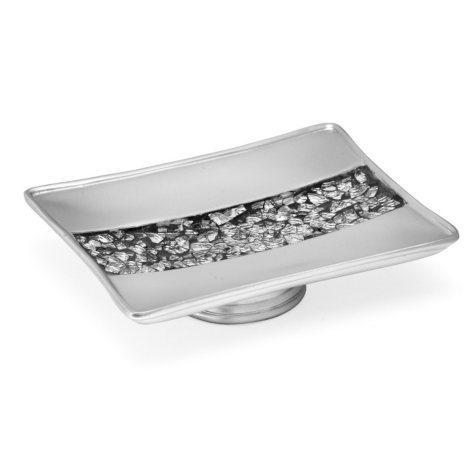 Sinatra Silver Sequins Design Soap Dish