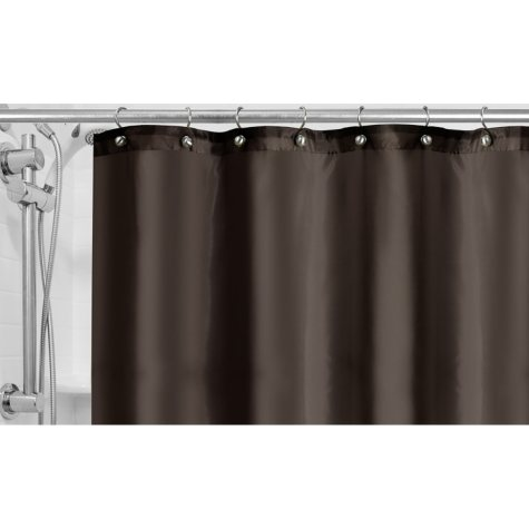 Fabric Shower Curtain Liner (Assorted Colors)