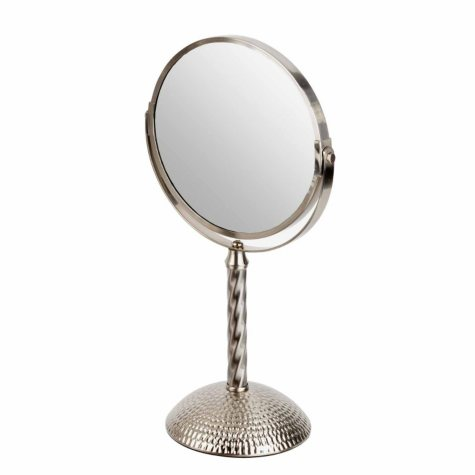 "Bombay 7"" Mirror, Hammered Chrome"