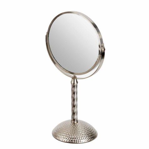 "Bombay 7"" Mirror, Hammered Nickel"
