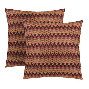 Chayanne Zigzag Pillows, Set of 2 (Assorted Colors)