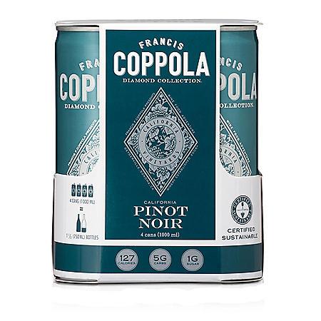 Francis Coppola Diamond Colletction Piinot Noir (250 ml can, 4 pk.)