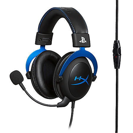 HyperX Cloud Blue Wired Gaming Headset for PlayStation 4