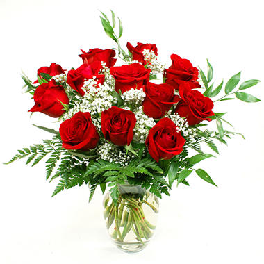 Red Rose Bouquet (Choose 12 or 24 Stems)