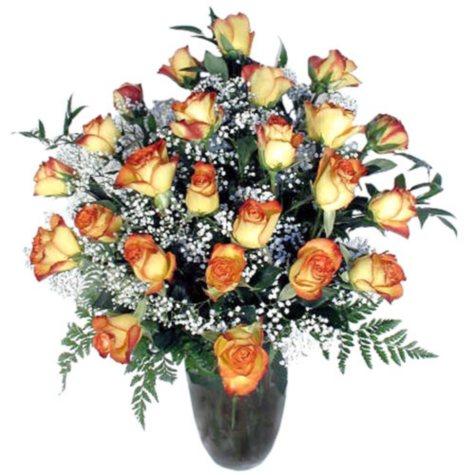 Rose Bouquet, Bi-Color (24 Stems)