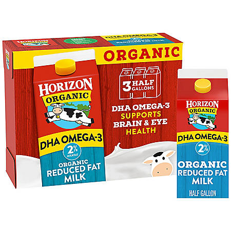 Horizon Organic 2% Milk with DHA Omega-3 (64 fl. oz., 3 pk.)
