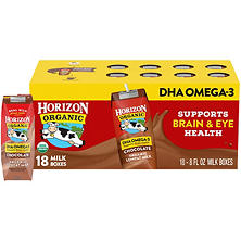 Horizon Organic Chocolate Milk with DHA  (8 fl. oz. carton, 18 pk.)