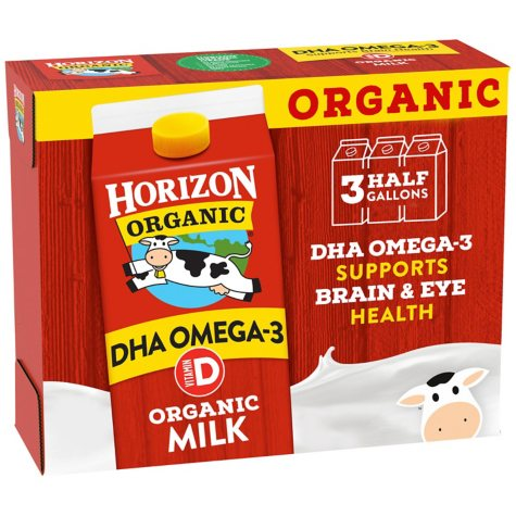 Horizon Organic Whole Milk with DHA (64 fl. oz., 3 pk.)