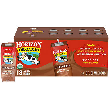 Horizon Organic Chocolate Milk (8 oz. 18 ct.)
