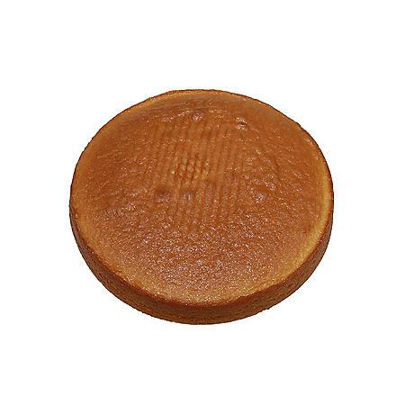 """8"""" Uniced White Cake Layers, Bulk Wholesale Case (24 ct.)"""