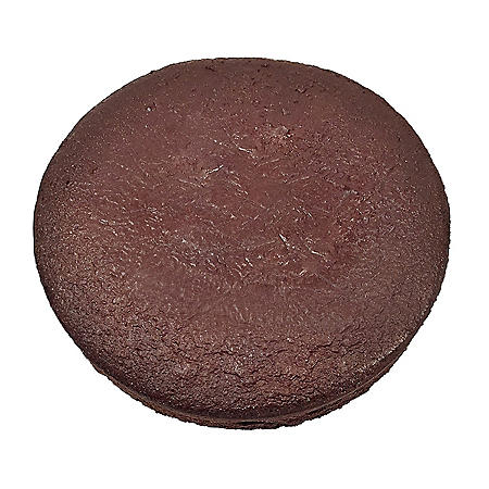 "8"" Uniced Chocolate Cake Layers, Bulk Wholesale Case (12.5 oz., 24 ct.)"