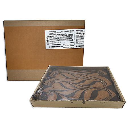 1/2 Sheet Un-Iced Marble Cake, Bulk Wholesale Case (6 ct.)