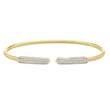 1/5 CT. T.W. Diamond Bangle in 14K Yellow Gold