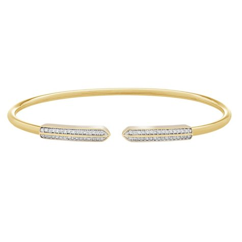 1/5 CT. T.W. Diamond Bangle in 14K Yellow Gold