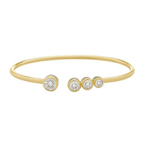 1/8 CT. T.W. Diamond Bangle in 14K Yellow Gold