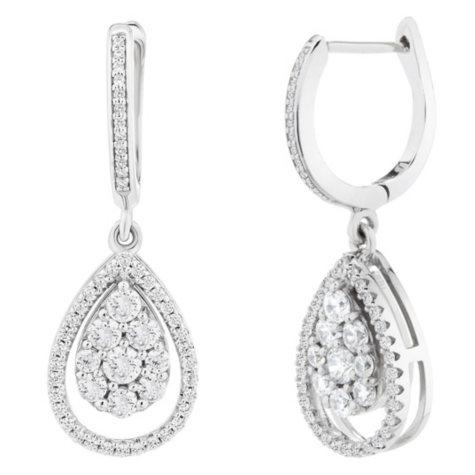 1 CT. T.W. Diamond Earrings in 14K White Gold