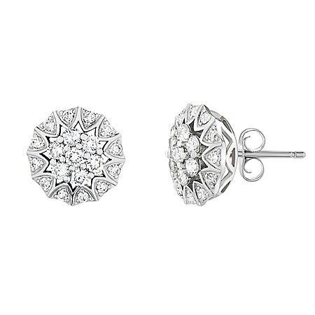 1 CT. T.W. Diamond Stud Earrings in 14K White Gold