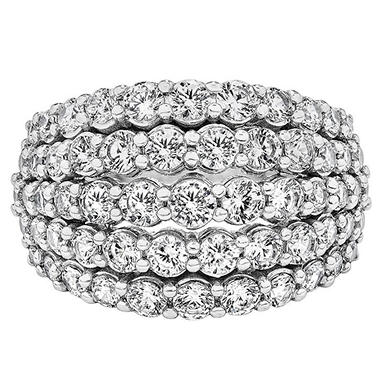 3 CT. T.W. Diamond Band in 14K White Gold