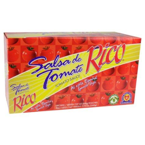 Rico Pouch Tomato Sauce - 16 pk.