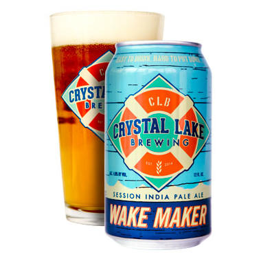 Crystal Lake Brewing Wake Maker IPA (12 fl. oz. can, 6 pk.)