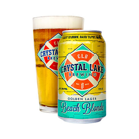 Crystal Lake Brewing Beach Blonde Lager (12 fl. oz. can, 6 pk.)